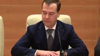 May 8, 2012 Russia_Premier-designate Medvedev meets Communist faction