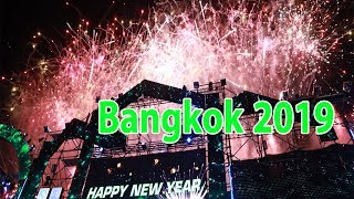 Happy New Year 2019 From Bangkok Countdown At Central World In Thailand
