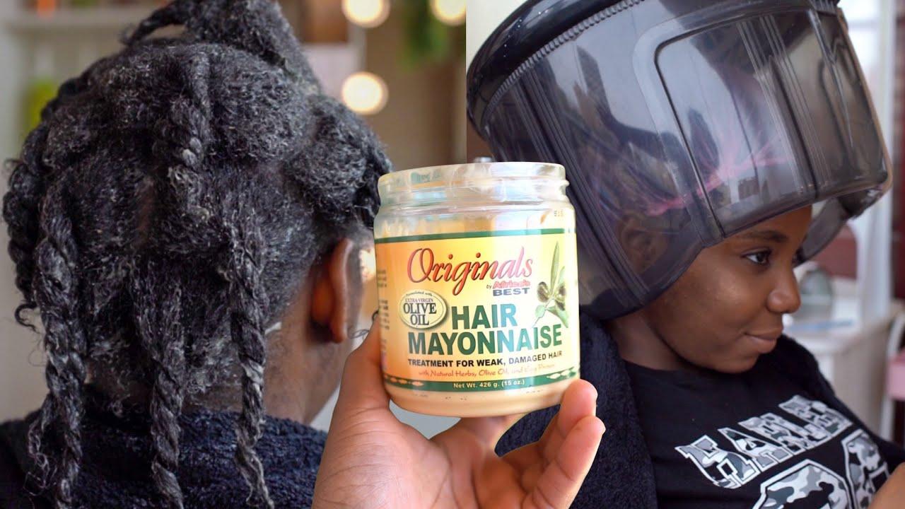 Tratamiento de mayonesa para el cabello maltratado