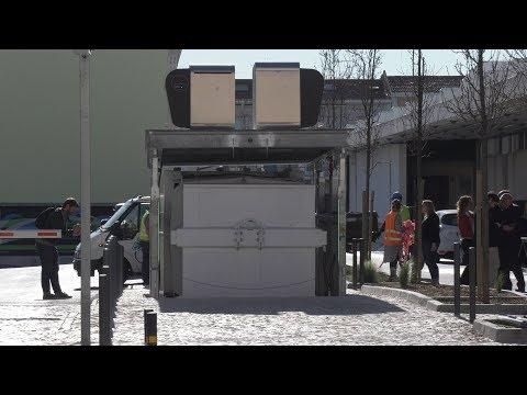 Contentor de grandes dimensões melhora recolha de lixo em Alvalade