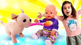 Как мама с Беби Бон Эмили. НОВАЯ серия! Готовим обед для куклы пупсика БЕБИ БОН