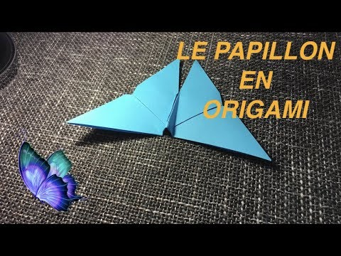 origami papillon origami facile youtube. Black Bedroom Furniture Sets. Home Design Ideas