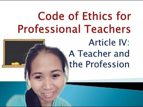 reflection paper on code of ethics for teachers