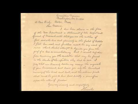 lincoln letter to mother bixby letter 10151 | 0