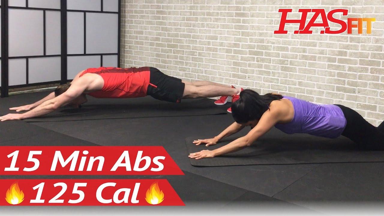 15 Minute Intense Ab Workout For Men Women