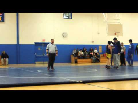01/25/16 - Ian wrestling against Martin Middle School