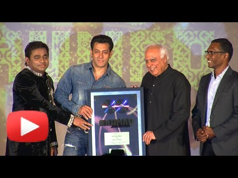 Salman Khan Unveils RAUNAQ Music Album-A.R Rahman and Kapil Sibal Collaboration