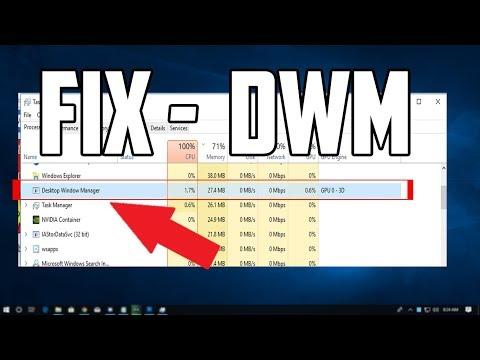 How To Fix Desktop Window Manager High Cpu Usage Dwm Exe Youtube