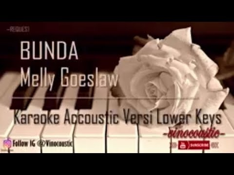 Melly Goeslaw - Bunda Karaoke Akustik Versi Lower Keys