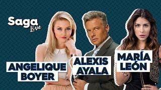 #SagaLive María León, Angelique Boyer, Alexis Ayala y Adolfo Laborde con Adela Micha. thumbnail