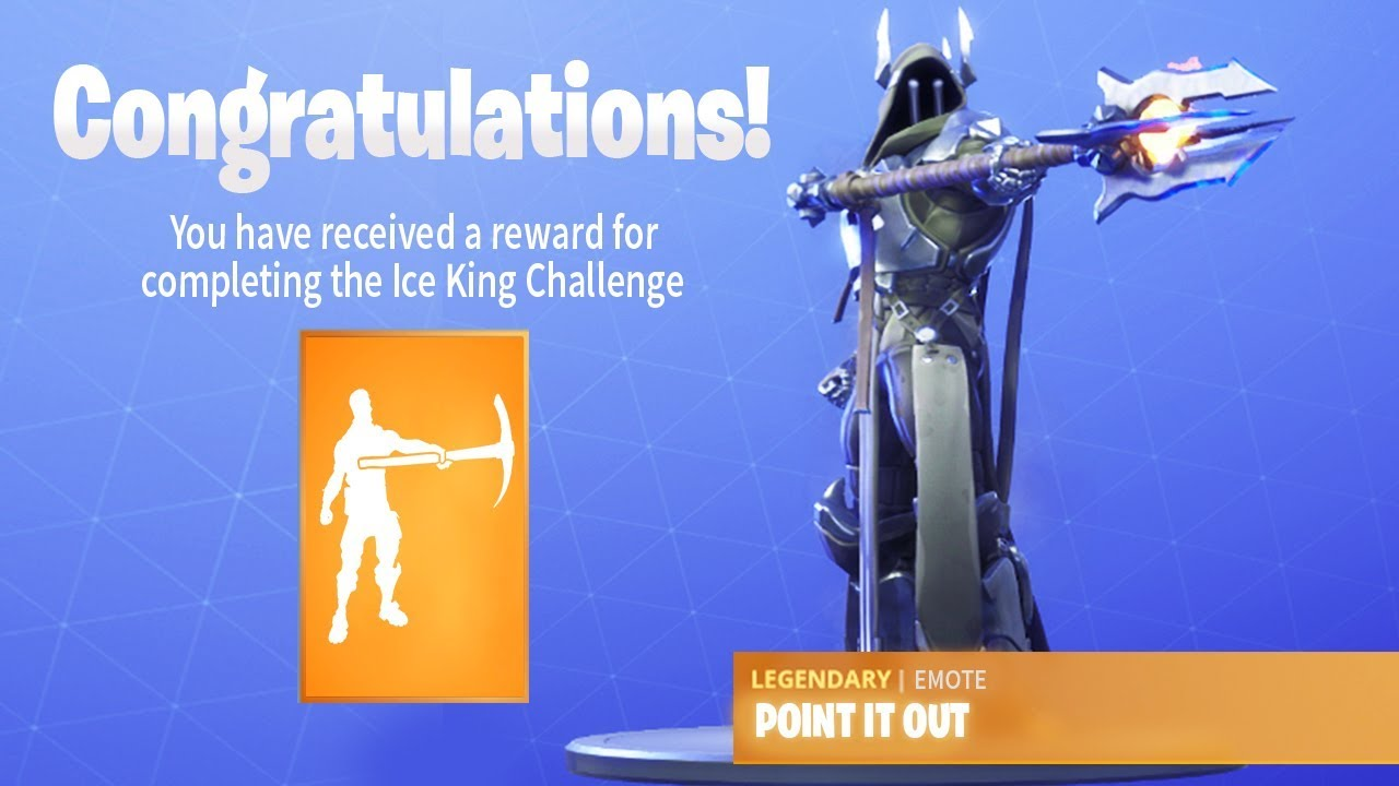 The New Ice King Emote In Fortnite Point It Out Tier 100 Emote