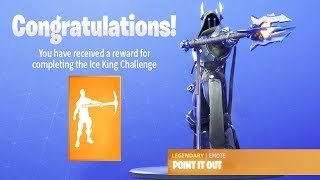 The NEW ICE KING Emote in Fortnite (Point It Out Tier 100 Emote)