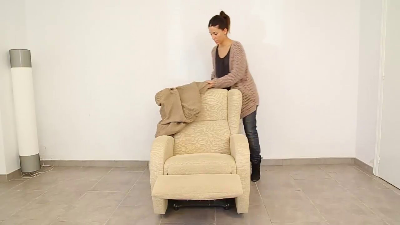 recliner chair covers rubber foot protectors how to put a cover easily homescapes youtube