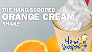 Hardee's Hand Scooped Orange Cream Shake Review