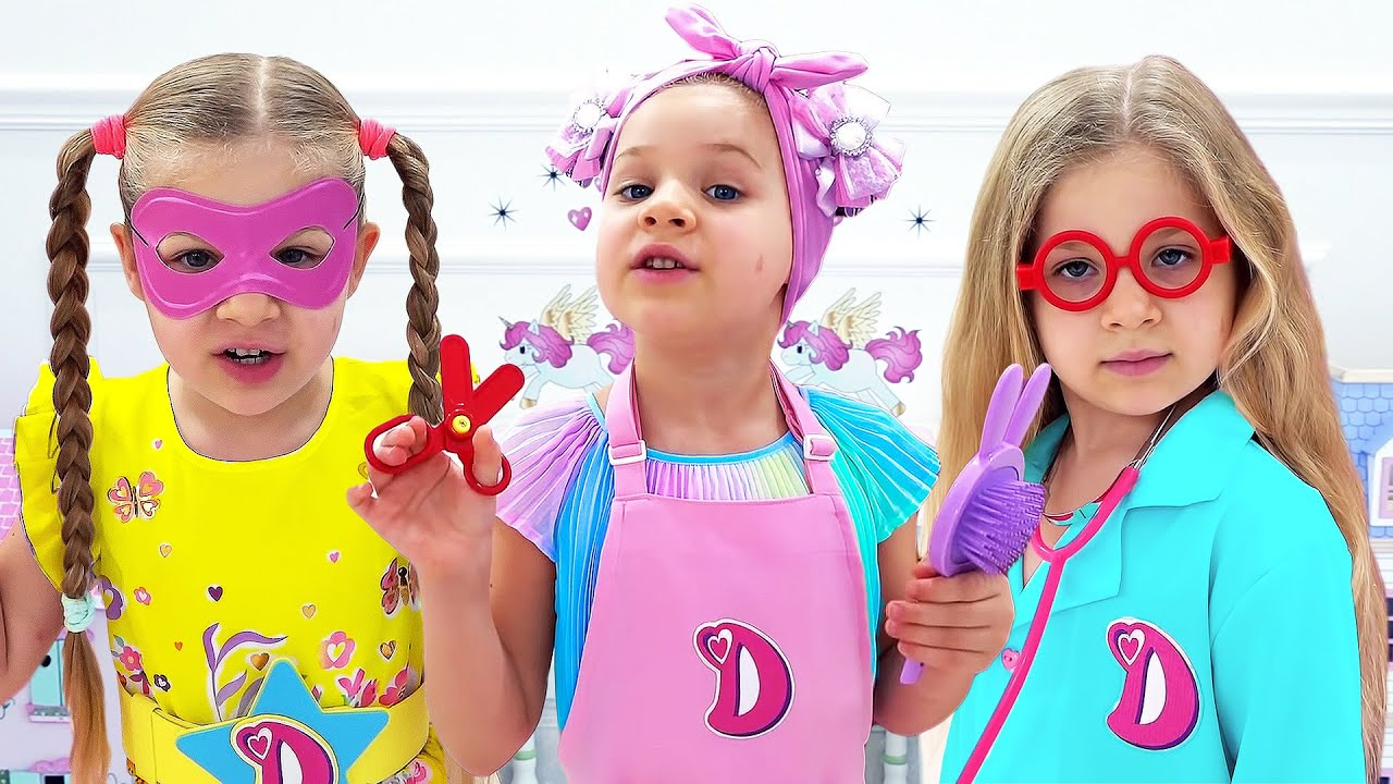Diana & Roma Best Stories for Girls - Dolls Video Compilation