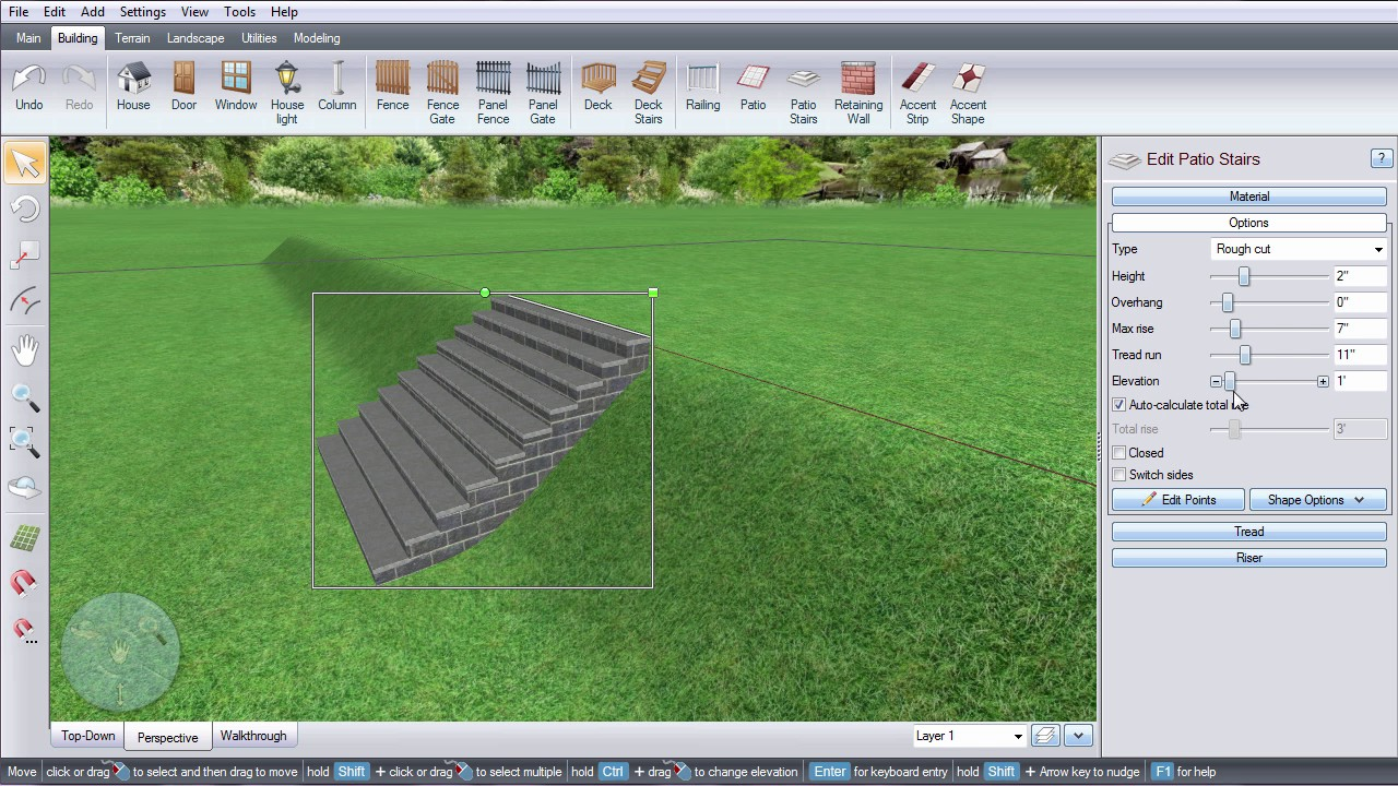 Realtime Landscaping  Patio Stairs On A Slope   YouTube