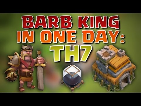 How To Get The Barbarian King in ONE DAY As A Town Hall 7! | Dark Elixir Farming Attack Strategy