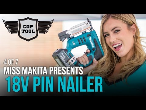 Makita 18V Cordless Pin Nailer XTP01 with Miss Makita 4 of 7