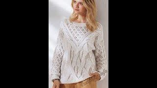 Вязание Спицами - Женский Пуловер, Джемпер - 2019 / Knit Knitwear Women's Pullover Jumper