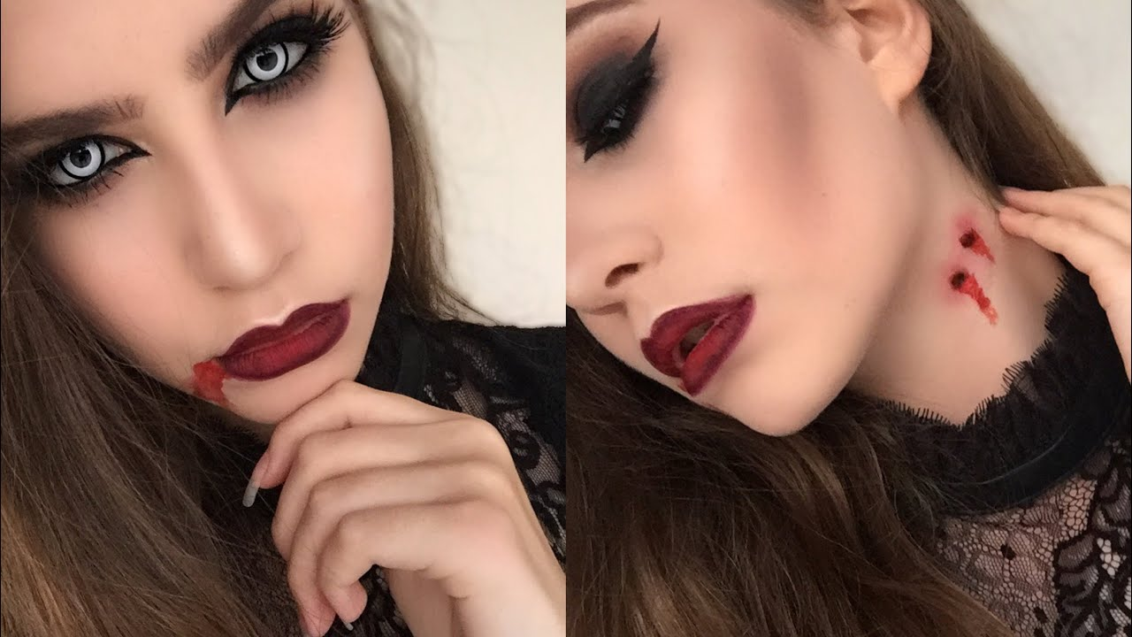 Quick and Easy Vampire Halloween Makeup Tutorial | Using Regular ...