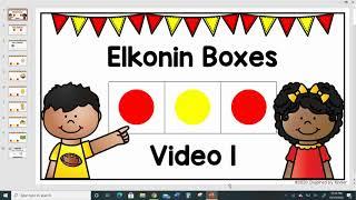 Elkonin Boxes Video 1 (Phoneme Segmentation Activity)