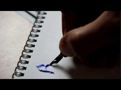 Blackletter calligraphy, Beginner