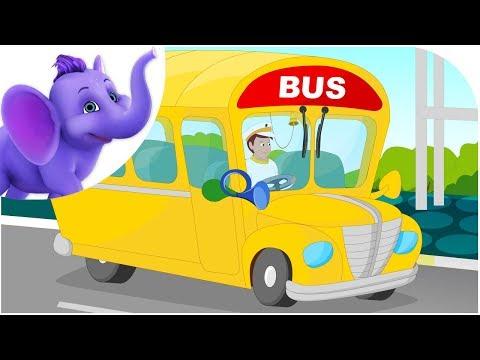 My Yellow School Bus - Nursery Rhyme with Karaoke