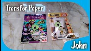 Tanya Jawab dan percobaan tentang kertas transfer paper light & dark
