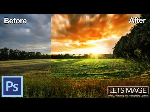 How to Use Photoshop to Edit Landscape Images - Example: Fire Garden | Photoshop Tutorial