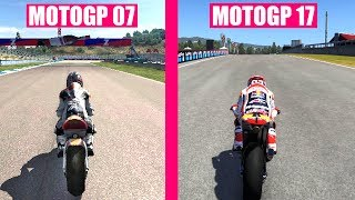 MotoGP 17 vs MotoGP 2007 Graphics Evolution Comparison