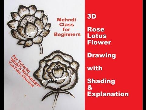 Mehndi class for beginners rose lotus flower drawing with shading mehndi class for beginners rose lotus flower drawing with shading explanation mightylinksfo
