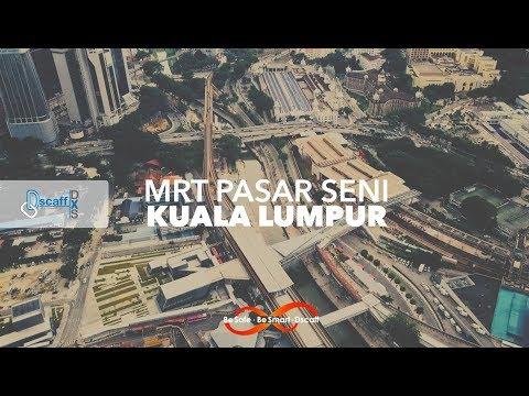 Installation of DXS Modular platform for MRT Pasar Seni, Malaysia