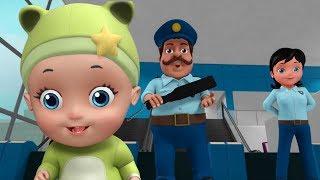 Baby in Airport Security Kids Cartoon Video | Infobells