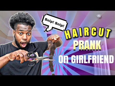 CUTTING MY GIRLFRIENDS HAIR PRANK!!!!(GONE WRONG)