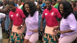 Trending - Fella Makafui & Nana Aba Anamoah In Agbadza Competition - Verna Changing Lives