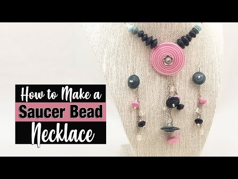 Paper Bead Saucer Necklace Tutorial