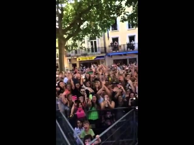 Kendji à Bergerac remercie Mika et ses fans !