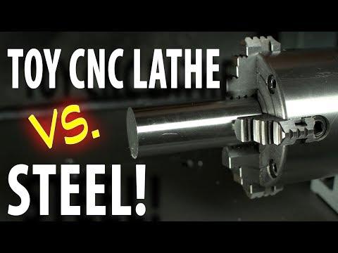 Will the CNC lathe addon TURN STEEL?