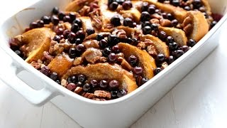 Baked Blueberry Pecan French Toast recipe