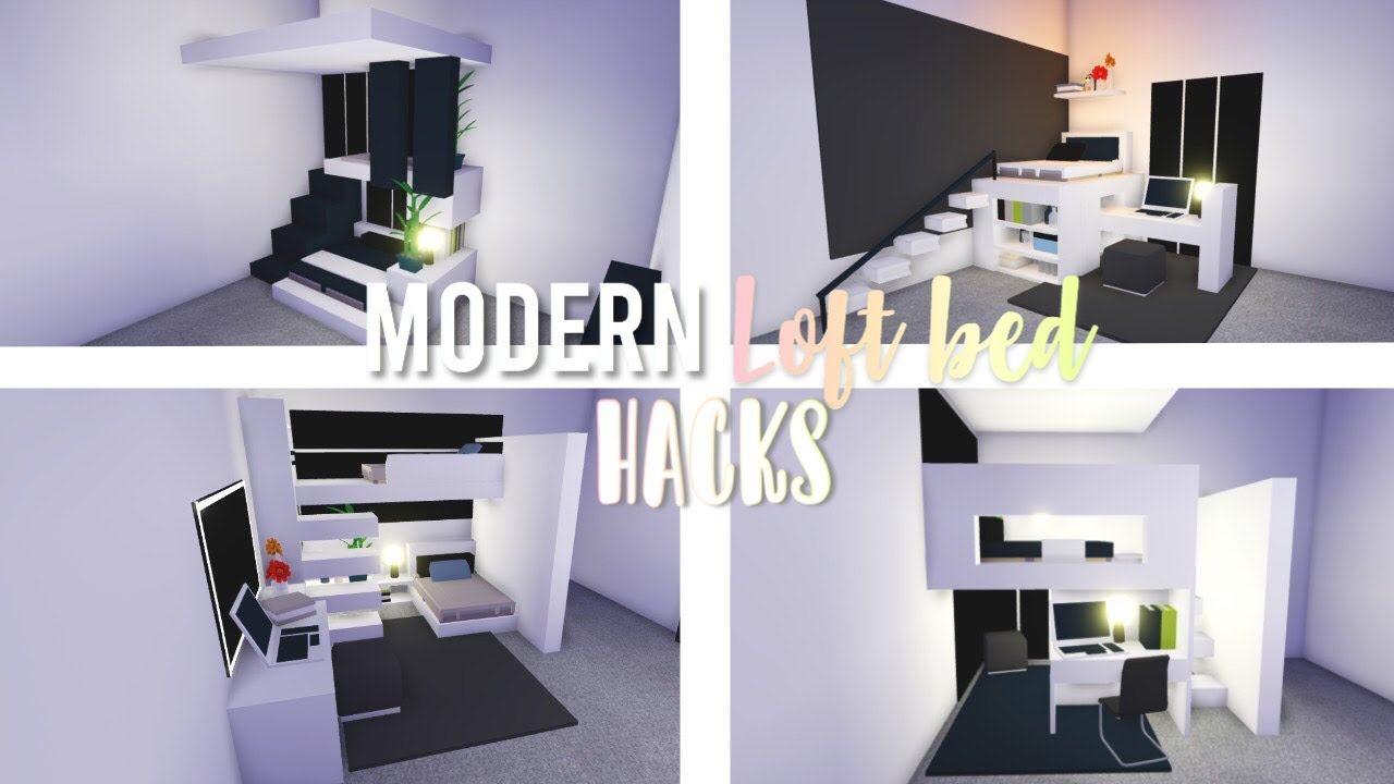 Modern Loft Bed Hacks Roblox Adopt Me Youtube