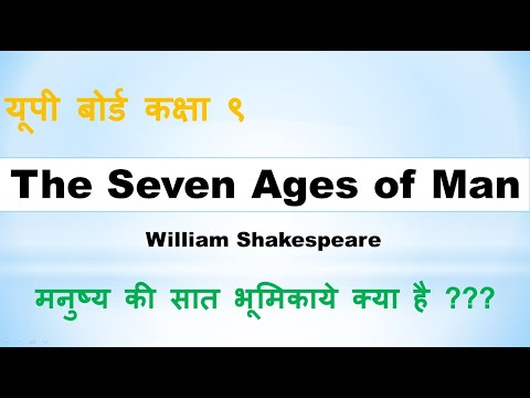 The Seven Ages of Man by Shakespeare: Hindi Translation and Summary - हिंदी रूपान्तर और भावार्थ