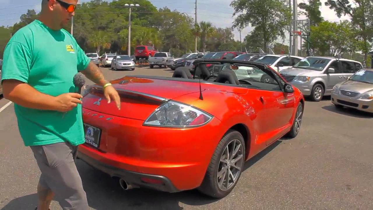autolines 2011 mitsubishi eclipse spyder gs sport walk around review test drive youtube