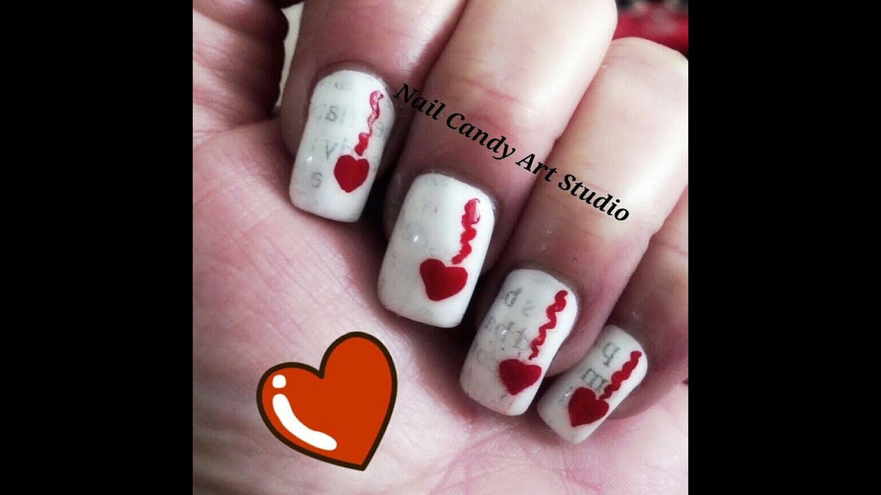 Love Letters Nail Design - YouTube