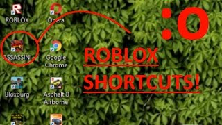 How to Create a ROBLOX Shortcut on all Windows!