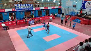 Kartik Khude, International Level Championship, Kick Boxing Fight 1, Kathmandu, Nepal.