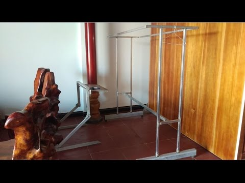 DIY industrial Clothing Rack - How to make Iron Clothing Rack very easy