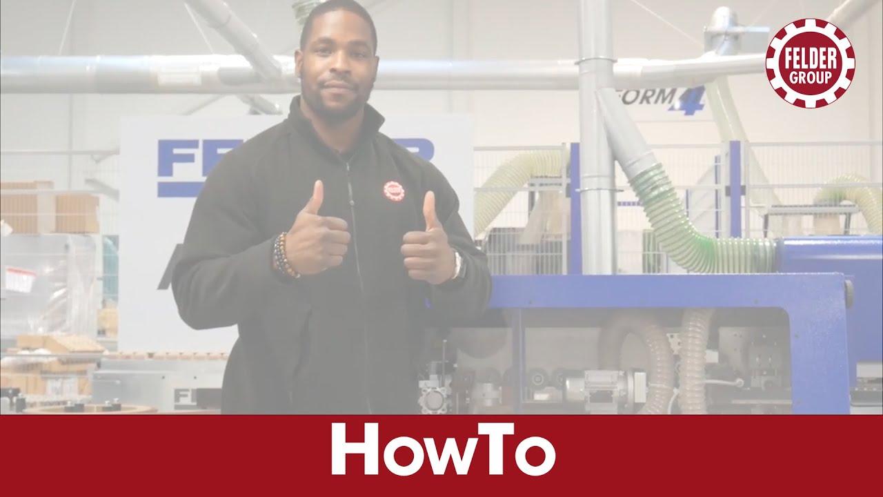 How To - Clean the gluepot on a FELDER G Series edgebander
