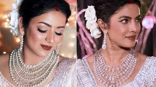 PRIYANKA CHOPRA Delhi RECEPTION LOOK | Indian Bridal Makeup & Hair Tutorial
