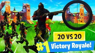 20 T-REX VS 20 BLACK KNIGHTS GAMEMODE! GAMEPLAY in Fortnite: Battle Royale