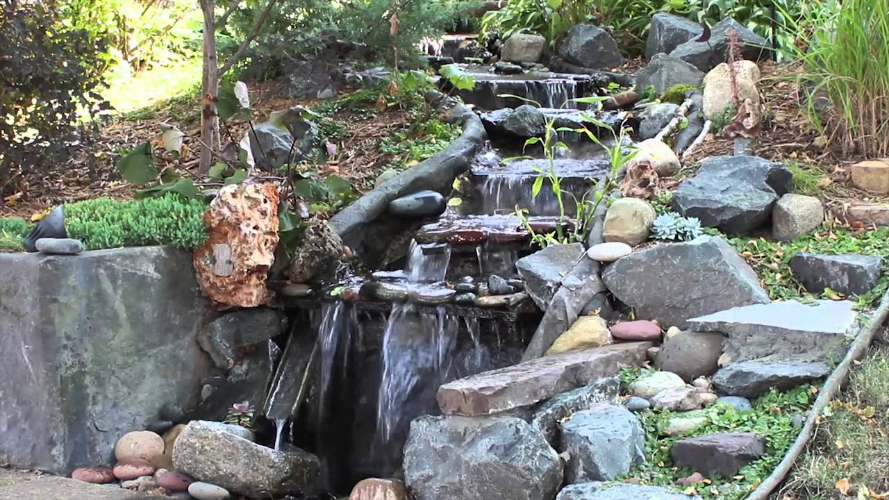 Rock On A Roll In Finished Garden Ponds And Streams Youtube